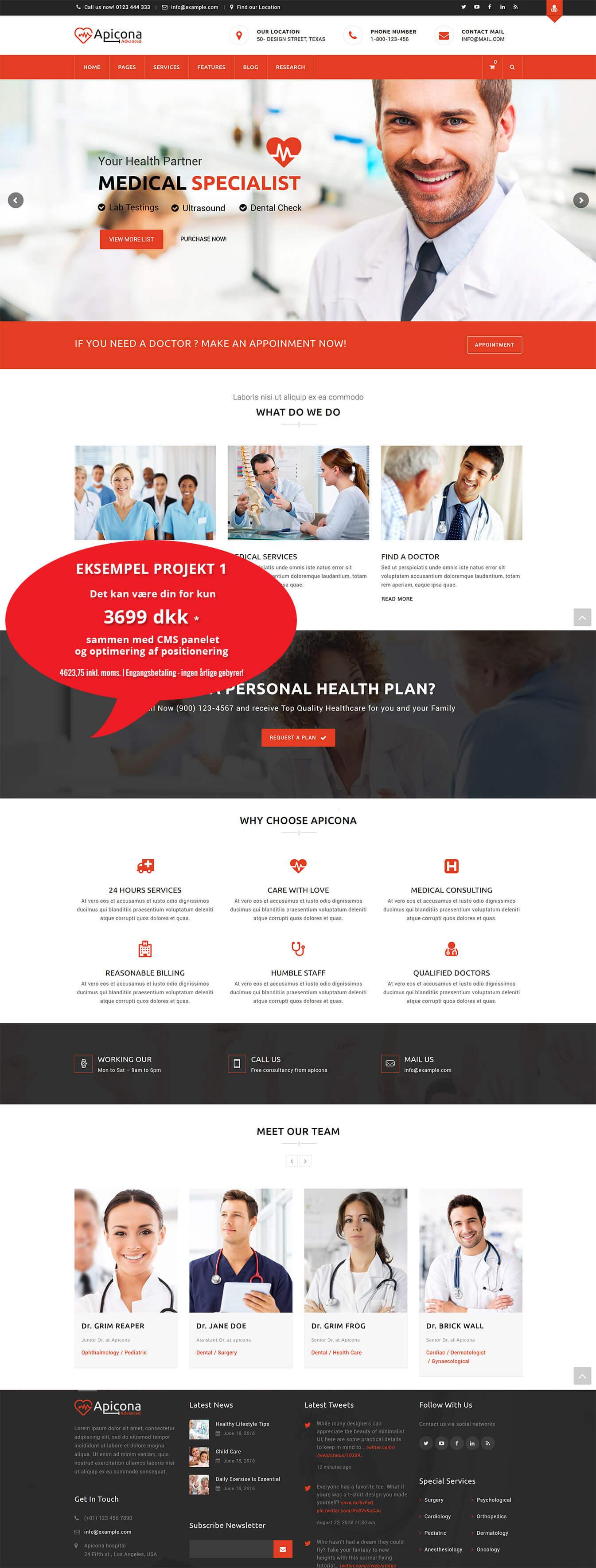 Hjemmeside til læge<div style='clear:both;width:100%;height:0px;'></div><span class='cat'>WordPress, Til Læger</span>